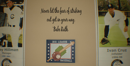 Babe Ruth Striking Out Wall Decal