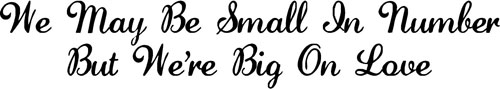 Big On Love | Wall Decals