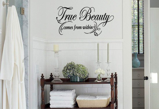 True Beauty Stretched Wall Decal