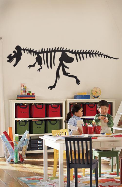 T-Rex Skeleton Wall Decal