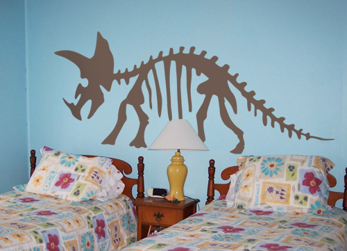 Triceratops Skeleton Wall Decal
