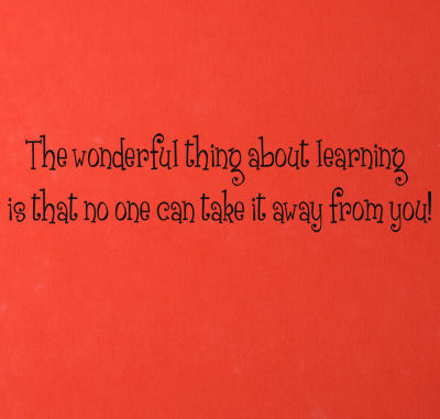 Wonderful Thing About Learning Wall Decals