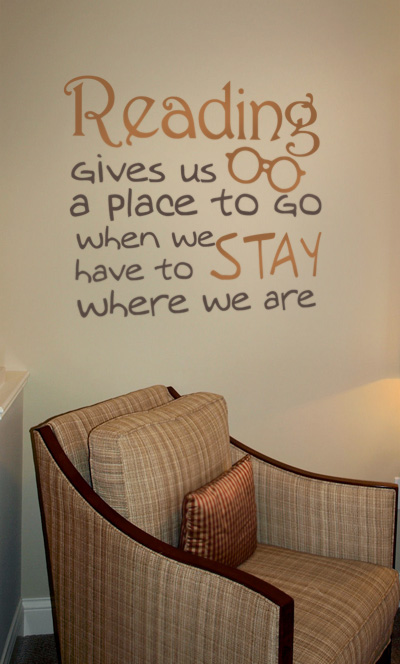 Reading Gives Us A Place Wall Decal