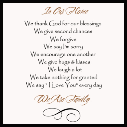 In Our Home God Wall Decal
