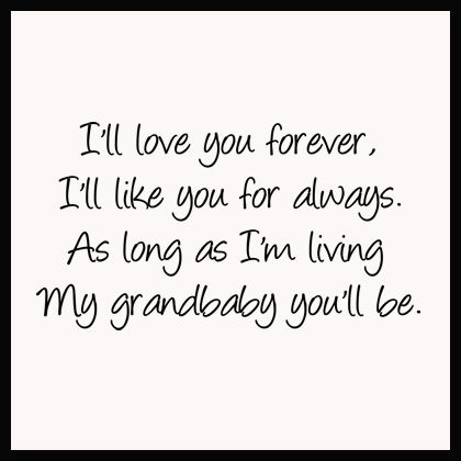 My Grandbaby You'll Be Wall Decals