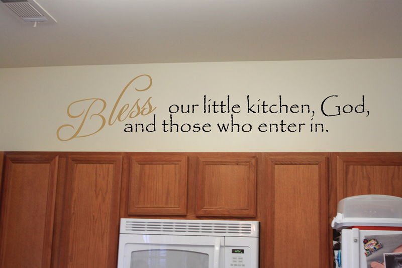 Bless Our Kitchen, God, Those Who Enter Wall Decal
