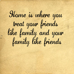 Family Like Friends Home | Wall Decals