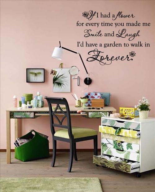 If I had a Garden... Wall Decal