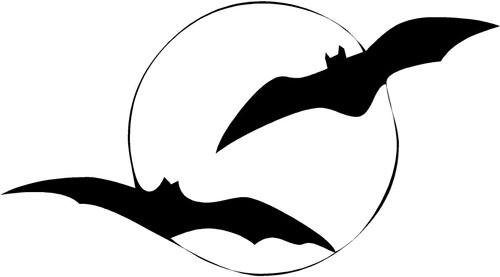 Moon Bats | Halloween Decals