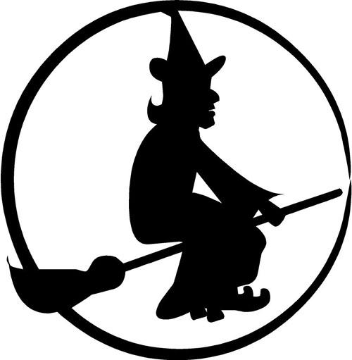 Witch Moon   Halloween Decals