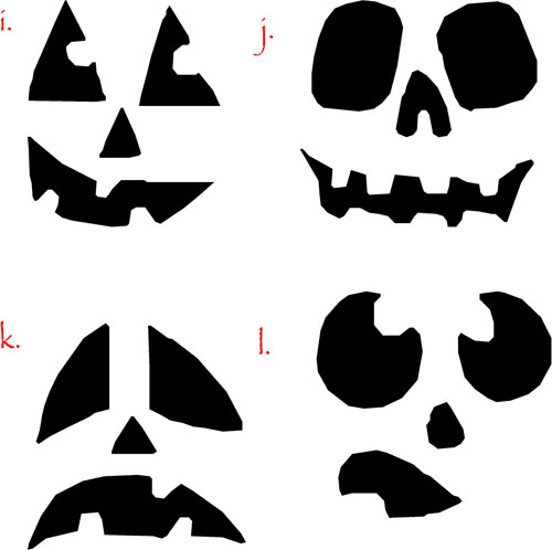 Pumpkin Faces III | Halloween Decals