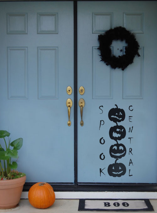 Spook Central Halloween Decal