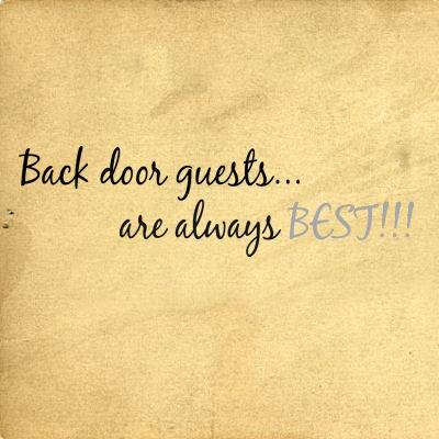 Back Door Guests Wall Decals