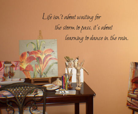 Learning To Dance Rain Wall Decals