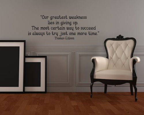 Try One More Time Wall Decal