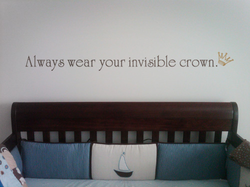 Always Wear Crown Wall Decal