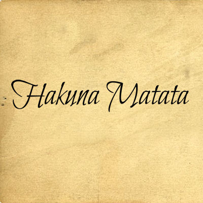 Hakuna Matata II  Wall Decals