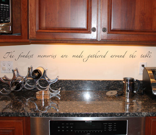 Fondest Memories Around Table Wall Decals