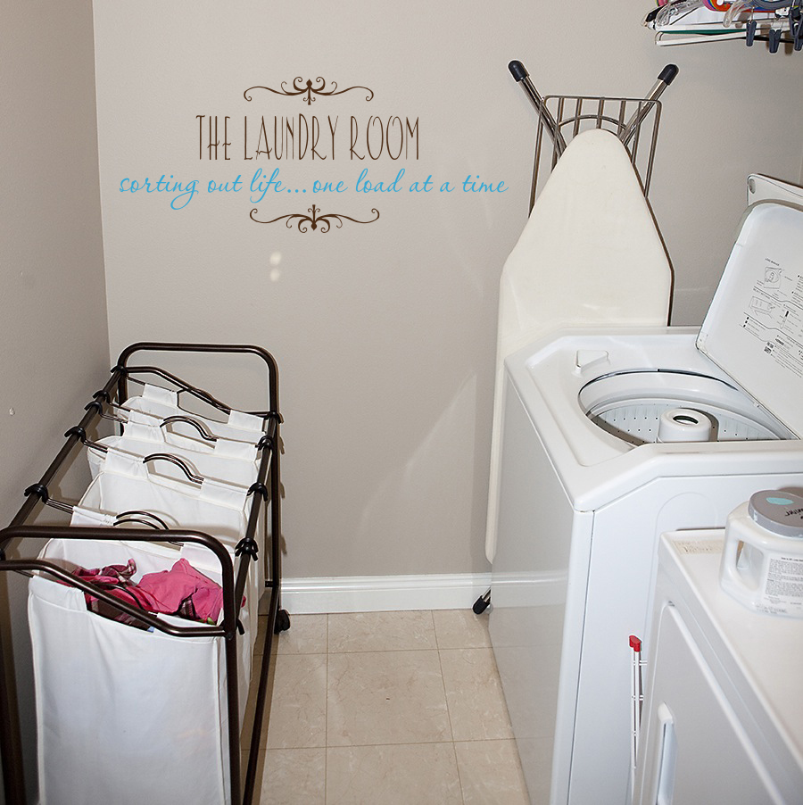 One Load At A Time Laundry Room Wall Decal