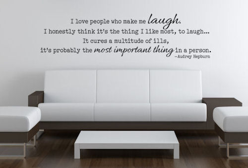 Love People Who Make Me Laugh Wall Decals