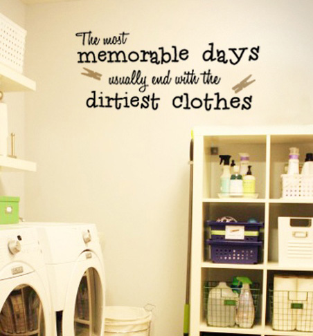 The Most Memorable Days Laundry Wall Decal