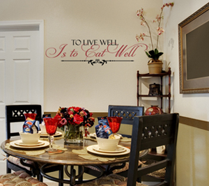 To Live Well Eat Well | Wall Decals