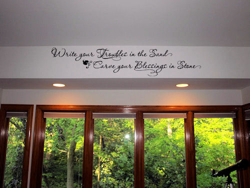 Write Your Troubles | Wall Decals