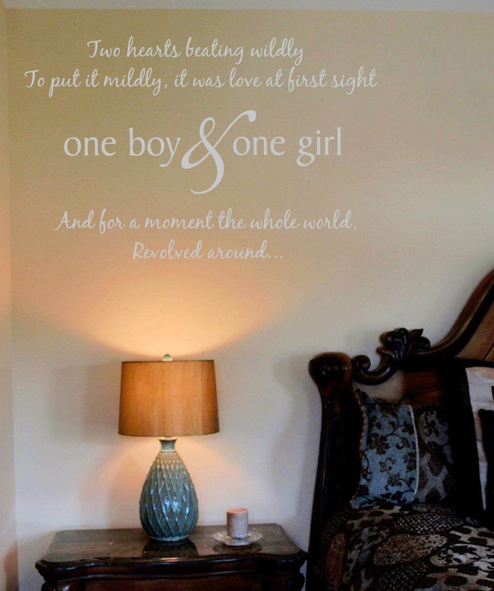 One Girl One Boy Wall Decal