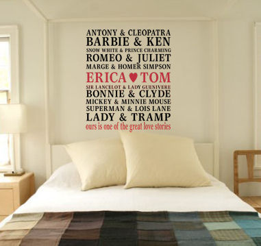 Ours One Of Great Love Stories Decal