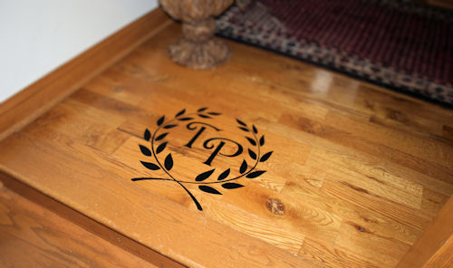 Laurel Wreath Monogram Wall Decal