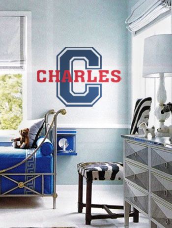 Varsity Names II Wall Decal