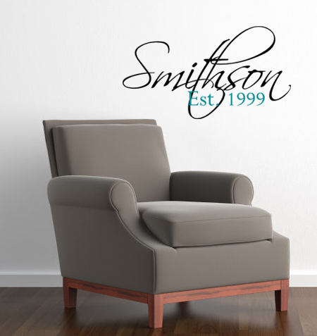 Last Name Established Date | Wall Decals