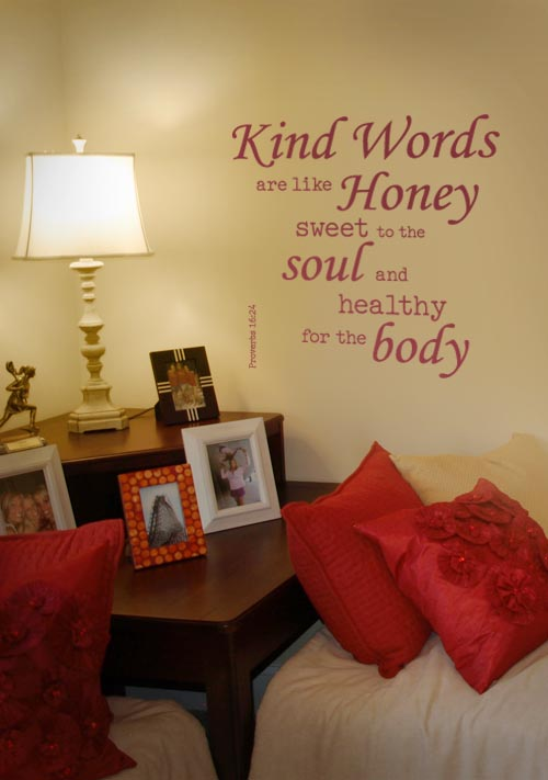 Kind Words Wall Decal