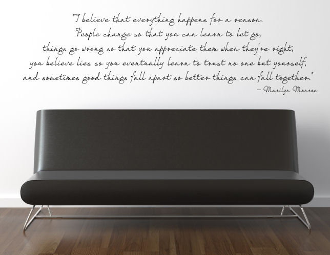 Everything Happens Reason Wall Decal