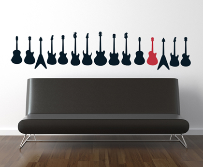 Guitar Collection Wall Decals