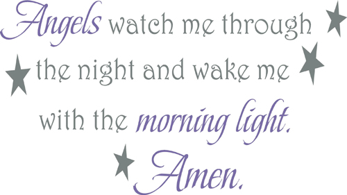 Angels Watch | Wall Decals