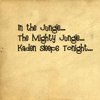 In The Jungle Name | Wall Decal