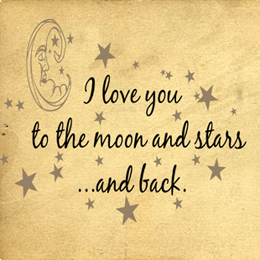 Love You To Moon And Stars | Wall Decals