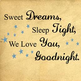Sweet Dreams Sleep Tight | Wall Decals