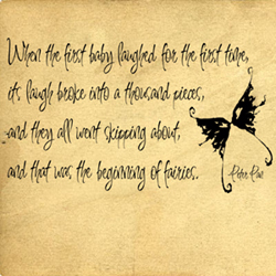 Peter Pan First Baby Laughed | Wall Decals