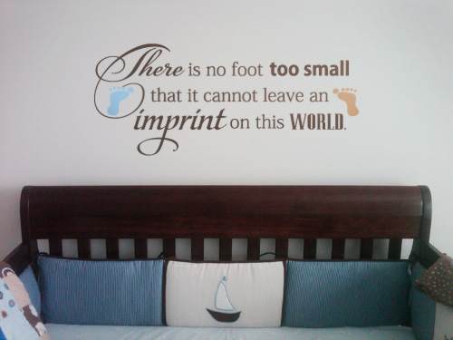No Foot Too Small Wall Decal