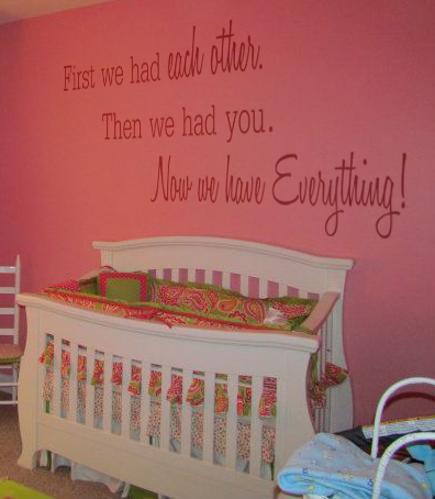 First We Had You Nursery Wall Decal