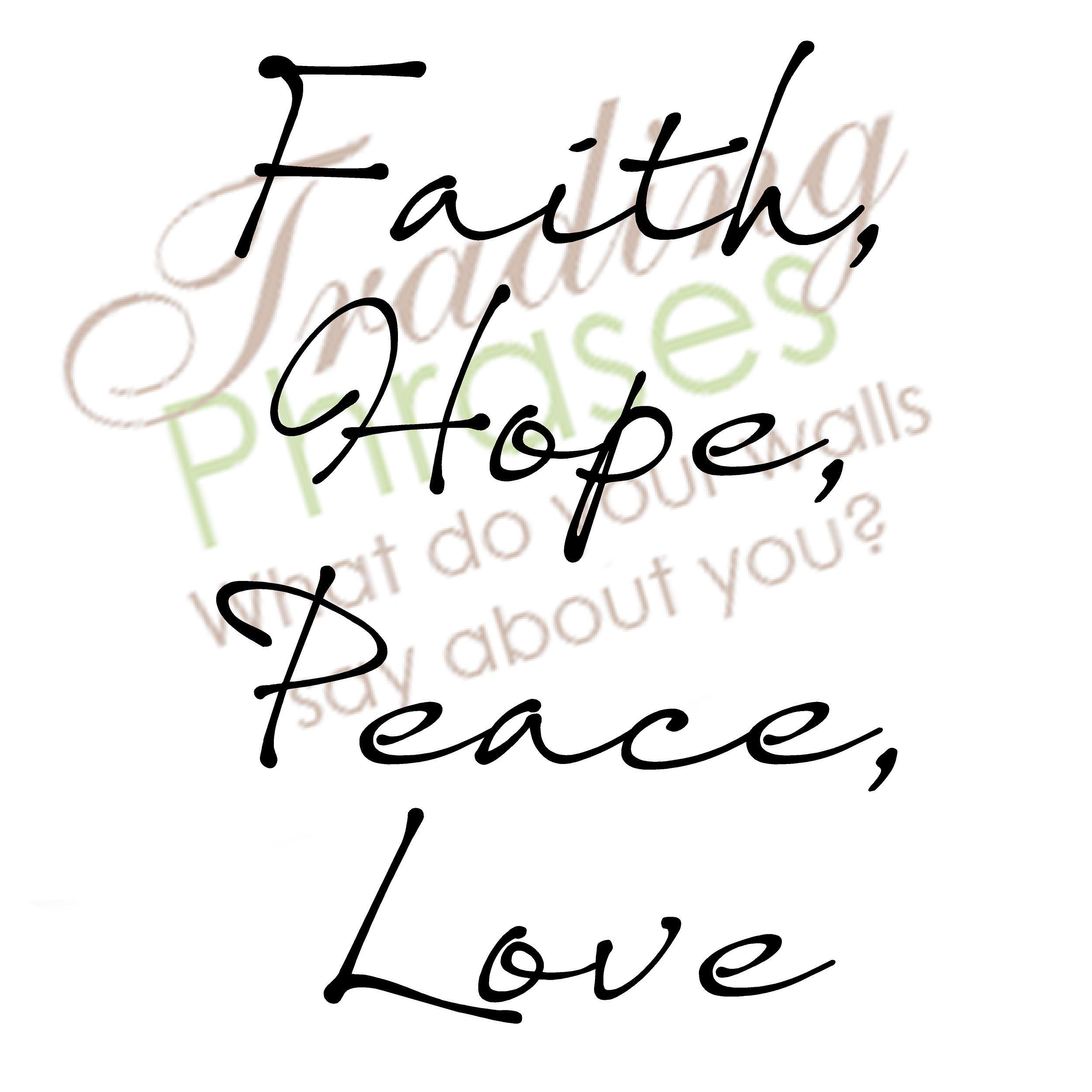 Faith Hope Peace Love Decal