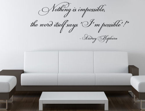 Nothing Impossible Wall Decals