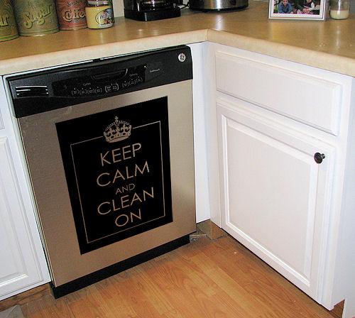 Keep Calm Dishwasher Decal