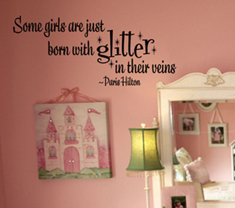 Girls Glitter Wall Decals
