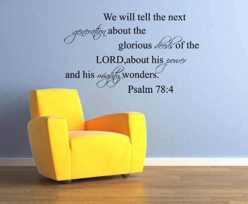 Glorious Deeds Mighty Wonders Wall Decals