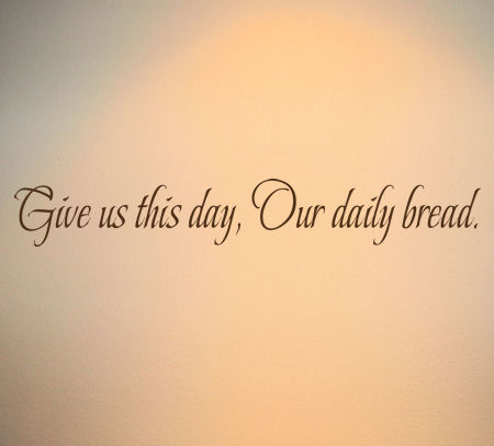 Give Us This Day Wall Decals