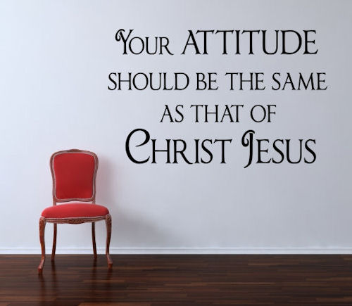 Attitude Same Jesus Christ Wall Decals