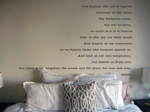 Lords Prayer Wall Decal